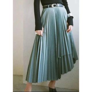 マルタンマルジェラ(Maison Martin Margiela)のCLANE ウールラッププリーツスカート(ロングスカート)