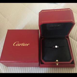 Cartier - 定価60万円 カルティエ ソリテール ダイヤリング 婚約指輪