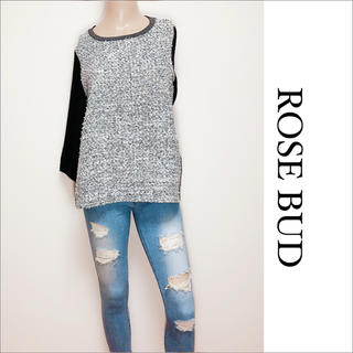 ROSE BUD - ROSE BUD ツイード ×シフォン トップス♡シップス ローリーズファーム