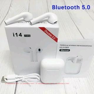 【最新 i14】★ホワイト 完全ワイヤレス Bluetooth イヤホン