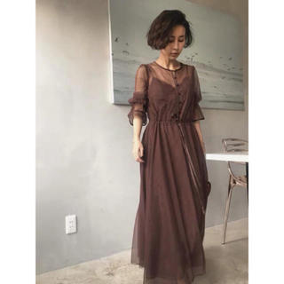 Ameri VINTAGE - 翌日発送❣️アメリヴィンテージ TULLE SEE-THROUGH DRESS