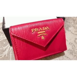 プラダ(PRADA)のPRADA 三つ折りミニ財布 IBISCO(折り財布)