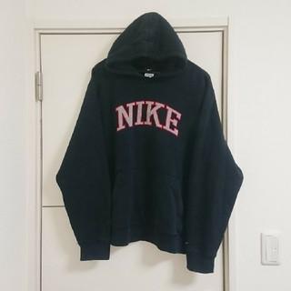NIKE - NIKE ナイキ パーカー ビッグロゴ 刺繍 古着 ビッグシルエット