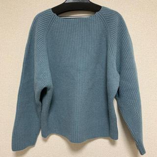 IENA - IENA カシミヤ混ニット 水色 ブルー