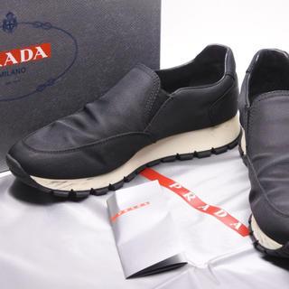 プラダ(PRADA)のPRADA プラダ スポーツ スリッポン スニーカー ブラック ホワイト 35 (スニーカー)