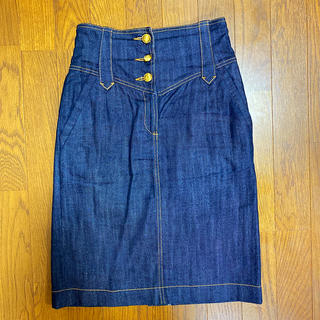 モロコバー(MOROKOBAR)のモロコバー  ハイウエストデニムスカート(ひざ丈スカート)