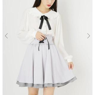 アンクルージュ(Ank Rouge)の裾グレンチェックフリルスピンドルSK(ひざ丈スカート)