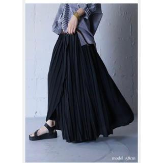 アンティカ 2way プリーツスカート ブラック