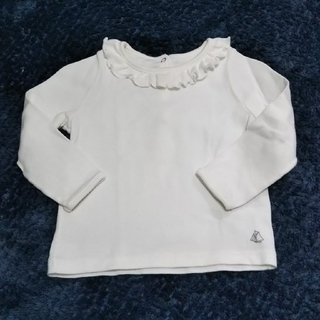 プチバトー(PETIT BATEAU)のプチバトープチバトー 長袖カットソー 18m 81cm Tシャツ素材(シャツ/カットソー)