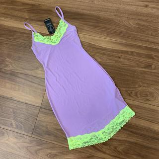 新品タグ付 セクシーナイトキャミドレス0(ルームウェア)