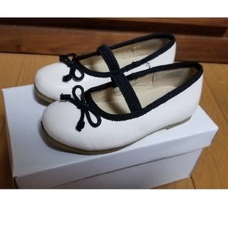 プティマイン(petit main)のpetit main/プティマイン/14cm/靴/オフホワイト/リボン(フラットシューズ)