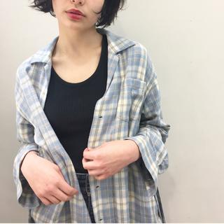 フィーニー(PHEENY)のPHEENY チェックロングシャツ(ロングワンピース/マキシワンピース)