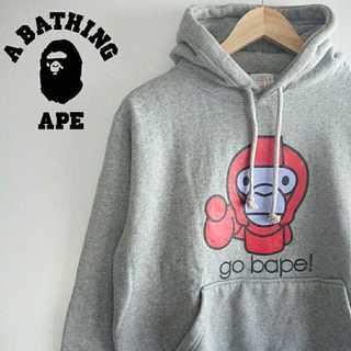 アベイシングエイプ(A BATHING APE)の848 レア a bating ape ベビーマイロ デカロゴ パーカー(パーカー)