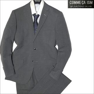 コムサイズム(COMME CA ISM)の10094 美品 コムサイズム シャドーストライプスーツ 薄灰 S(セットアップ)