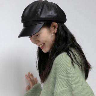 スタイルナンダ(STYLENANDA)の韓国ファッション♡レザーキャスケット帽(キャスケット)