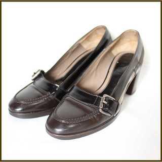 マルニ(Marni)のマルニ★エナメル&スエード ヒールローファー 36(23cm相当)パンプス(ローファー/革靴)