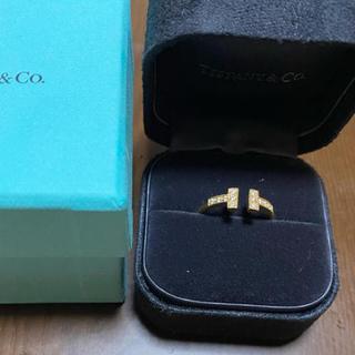 ティファニー(Tiffany & Co.)のティファニー Tリング ダイヤモンド イエローゴールド(リング(指輪))