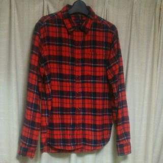 レイジブルー(RAGEBLUE)のRAGEBLUE ネルシャツ Sサイズ 赤黒 アメカジ カジュアル レイジブルー(シャツ)
