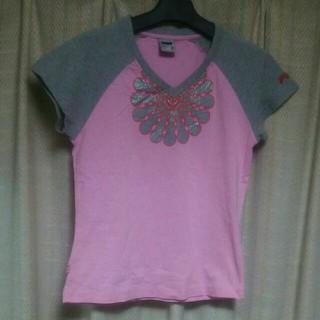 フィラ(FILA)のFILA 半袖 ラグランTシャツ Sサイズ ピンク フィラ 小さいサイズ 中古(Tシャツ(半袖/袖なし))