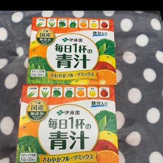 イトウエン(伊藤園)の伊藤園 毎日1杯の青汁 フルーツミックス 40包 2箱分 野菜(青汁/ケール加工食品)