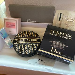 Dior - ディオールマニア 限定クッション 2N ローズ&ローズ