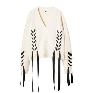 ルシェルブルー(LE CIEL BLEU)の最終価格 LE CIEL BLEU Cable Knit Cardigan (ニット/セーター)