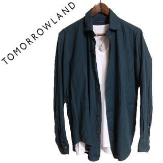 トゥモローランド(TOMORROWLAND)のTOMORROWLAND 長袖シャツ カジュアルシャツ 青 カッターシャツ(シャツ)