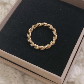 ロキエ(Lochie)のTUWAKRIM 24kgf ロープリング ゴールド リング アクセサリー 指輪(リング(指輪))