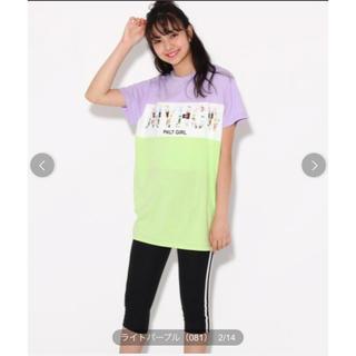ピンクラテ(PINK-latte)の(新品)ピンクラテ     ブロッキングTシャツ+レギンス セット(Tシャツ/カットソー)