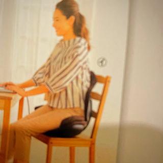 ディノス(dinos)の健康椅子ブラック❤️クローバー(クッション)