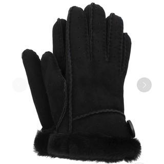アグ(UGG)のアグ UGG 手袋 Bailey Glove ベイリーグローブ ムートン 黒(手袋)