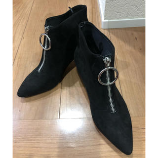エイチアンドエム(H&M)のH&Mショートブーツ  黒(ブーティ)