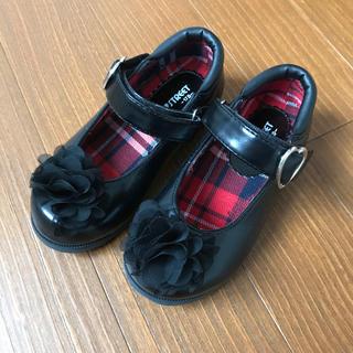 女の子 靴 17センチ ブラック