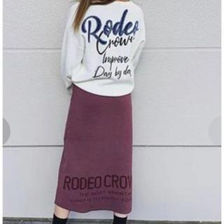RODEO CROWNS WIDE BOWL - RODEO CROWNS WIDE BOWL 👑ロゴ ニット スカート