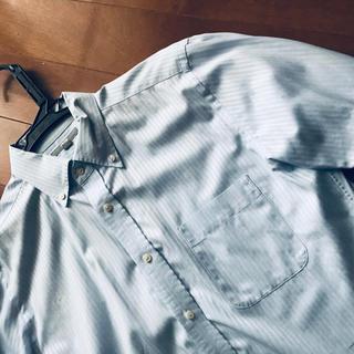 ユニクロ(UNIQLO)のUNIQLOブルーストライプBDワイシャツLサイズ(シャツ)