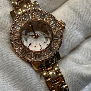 ジルスチュアート(JILLSTUART)のジルスチュアート 腕時計 ピンクゴールド 稼働中 箱保証書付 カットガラス(腕時計)
