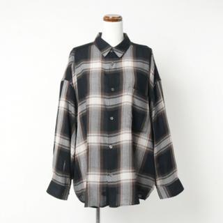 COMOLI - graphpaper チェックレギュラービッグスリーブシャツ
