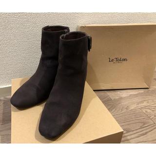 ルタロン(Le Talon)のルタロン Le Talon スクエアベルト ブーツ Lサイズ ブラウン(ブーツ)