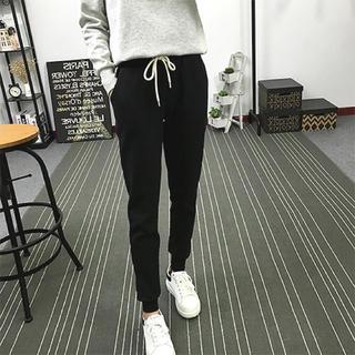 【新品アウトレット】スウェット パンツ レディース ブラック L(カジュアルパンツ)