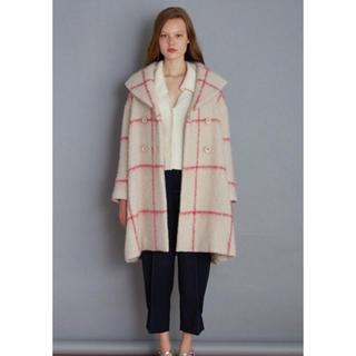 ファーファー(fur fur)のタグ付き fur fur ラインチェック コート 完売品 新垣結衣 ガッキー(ロングコート)