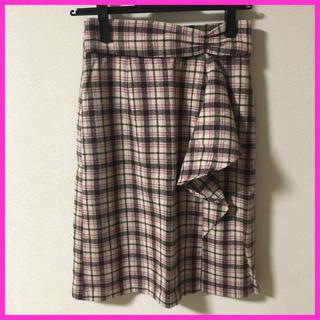 ミッシュマッシュ(MISCH MASCH)のミッシュマッシュ チェック柄スカート S(ひざ丈スカート)
