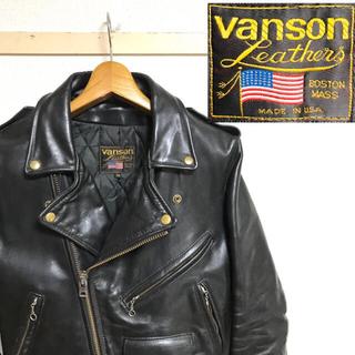 バンソン(VANSON)の希少!USA製バンソンVANSONダブルライダース タロンジップ ヴィンテージ (レザージャケット)