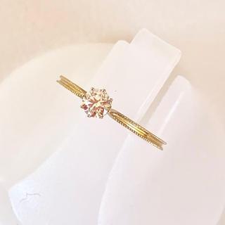 アーカー(AHKAH)のAHKAH ピンキーリング ダイヤモンド リング アーカー k18yg ゴールド(リング(指輪))