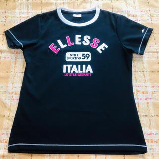 エレッセ(ellesse)の☆エレッセ ロゴ スポーツ Tシャツ ネイビー M(ウェア)