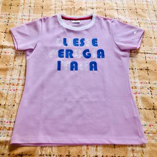 エレッセ(ellesse)の☆エレッセ ロゴ スポーツ Tシャツ ピンク M(ウェア)