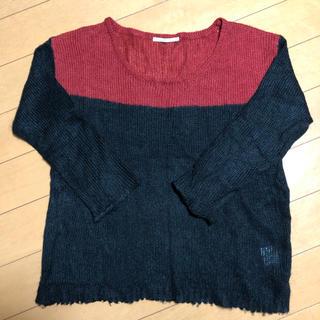 レトロガール(RETRO GIRL)のレトロガール ニット バイカラー ツートンカラー 薄手 フリーサイズ(ニット/セーター)