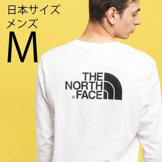 ザノースフェイス(THE NORTH FACE)のM 新品ノースフェイス 長袖 ロンT 白 ホワイト Tシャツ ロゴ(Tシャツ/カットソー(七分/長袖))