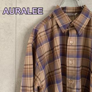 コモリ(COMOLI)のAURALEE オーラリー スーパーライトウールチェックシャツ (シャツ)