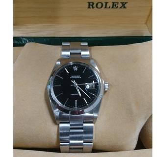 ROLEX - 『お値下げ致しました』ロレックス オイスターデイト 稀少ブラック メンズ