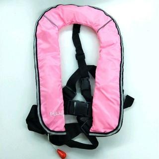 子供用 ライフジャケット 自動膨張式 ピンク 新品(ウエア)
